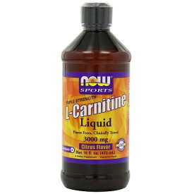 Now L-Carnitine Liquid 480ml 3000mg Citrus Flavor L-カルニチン・リキッド(3000mg)シトラスフレーバー 480ml
