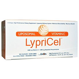 【楽天最安値挑戦中!送料無料】Lypricel Liposomal Vitamin C, 30 Packets リプリセル ビタミンC 30包 リプライセル リポソーム