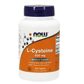 NOW L-Cysteine 500 mg 100 tab #0077 ナウ L-システイン 100 タブレット