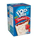 Kellogg's POP-tarts Frosted Strawberry 8ct/14.1oz/400g /ケロッグ ポップタルト ストロベリー 50g×8枚入り