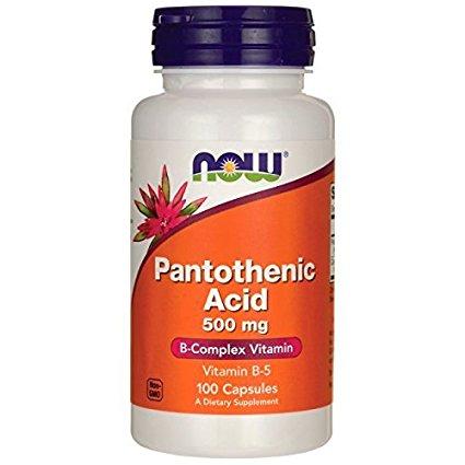 NOW # 0488 Pantothenic Acid 500mg パントテン酸(ビタミンB5)100カプセル