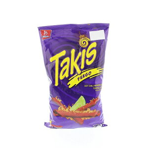 takis Tortilla Chips タキス トルティーヤチップス Hot Chili Pepper and Lime 9.9 Oz  ホットチリペッパーライム味