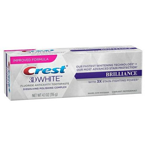 クレスト 3Dホワイトブリリアンス バイブラント ペッパーミント 4.1oz Crest 3D White Brilliance Vibrant Peppermint Flavor Toothpaste