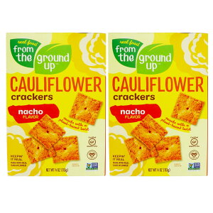 [2箱セット] From the Ground Up Cauliflower Crackers Nacho - 4 oz. / フロムザグラウンドアップ カリフラワー クラッカー [ナチョ] 113g