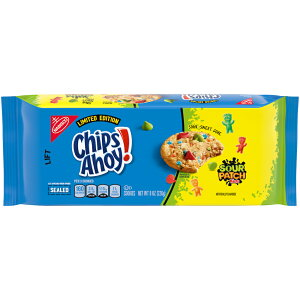 """Chips Ahoy! Cookies with SOUR PATCH KIDS Candy / チップスアホイ! クッキー """"サワーパッチキッズキャンディ入り"""" リミテッドエディション 226g(8oz)"""