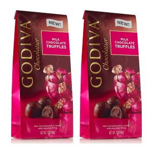 【お得な2個セット!】Godiva Milk Chocolate Truffles, Wrapped 7oz ゴディバ トリュフ ミルクチョコレート 198g