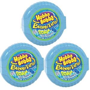 【3個セット】HUBBA BUBBA Bubble Tape Gum 6FT ハバ・ババ バブルガム テープ サワー ブルーラズベリー味 2oz 1.82メートル (6フィート)