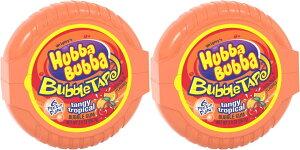 【2個セット】HUBBA BUBBA Bubble Tape Gum 6FT ハバ・ババ バブルガム テープ サワー タンジートロピカル味 2oz 1.82メートル (6フィート)