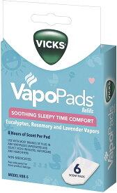 Vicks Vapor Pad Rosemary, Lavender and Eucalyptus VBR-5 ヴィックス 加湿器用 詰替用 ヴェポパッド 6枚入り ユーカリ・ローズマリー・ラベンダー