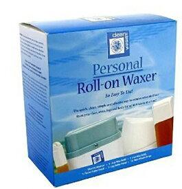 【訳あり/箱つぶれ】Clean & Easy Personal Roll-on Waxer ブラジリアンワックス 簡単ロールオンワックス脱毛キット
