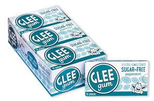 【訳あり・賞味期限 5月20年】Glee Gum Sugar-free Peppermint (Pack of 6)グリーガム シュガーフリー ペパーミントガム 6個セット(各16枚入り)