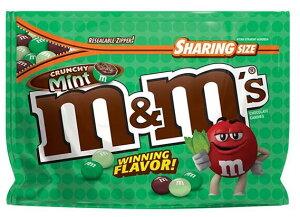 M&M's Crunchy Mint Sharing size 8oz☆ エムアンドエムズ クランチーミント味 8oz