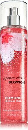 【送料無料】バス&ボディワークス ジャパニーズチェリーブロッサム ラメ入り シマー ボディミスト Bath and Body Works Japanese Cherry Blossom Shimmer Body Mist