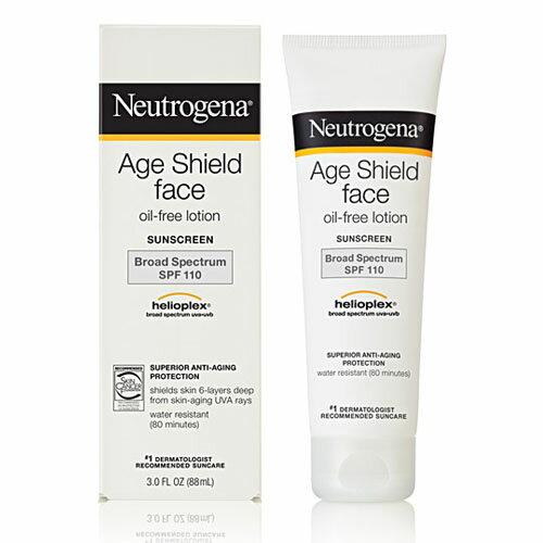 ニュートロジーナ エイジ シールド フェイスローション サンスクリーン ブロード スペクトラム日焼け止め SPF110 Neutrogena Age Shield Face Lotion Sunscreen Broad Spectrum SPF110 (88ml)