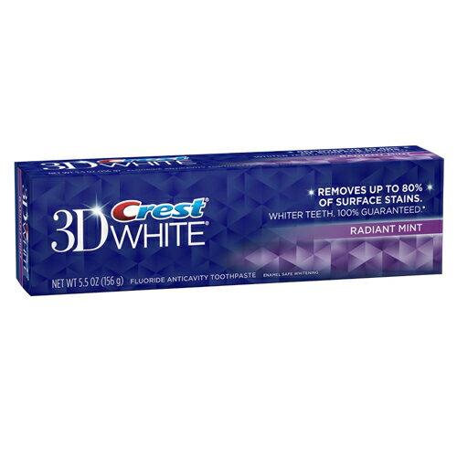 【増量中!】白い歯に!クレスト 3Dホワイト ラディアントミント 歯磨き粉 Crest 3D White Whitening Toothpaste, Radiant Mint 181g