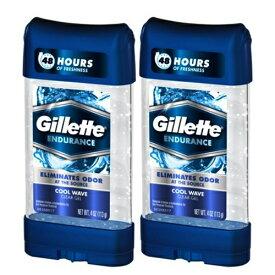 お得な2本セット!107g ジレット クリアージェル デオドラント クールウェーブ Gillette Endurance Cool Wave Clear Gel Anti-Perspirant & Deodorant