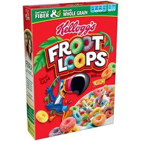 Kellogg's Froot Loops 615g ×1箱 ケロッグ フルーツループ ホールグレイン・シリアル