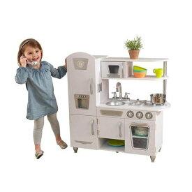 【訳あり・凹みあり・汚れ】KidKraft キッドクラフト おままごと ビンテージ キッチンセット ホワイト