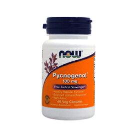 NOW Pycnogenol Veg Capsules, 100 mg, 60 Count #3267 ナウ ピクノジェノール 100mg 60ベジカプセル