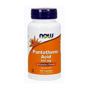 NOW Pantothenic Acid 500 mg 100 Caps #0486 ナウ パントテン酸(ビタミンB5) 500mg