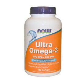 NOW ULTRA OMEGA 3 FISH OIL 180 SGELS #1662 ナウ ウルトラオメガ3(EPA&DHA)180ソフトカプセル