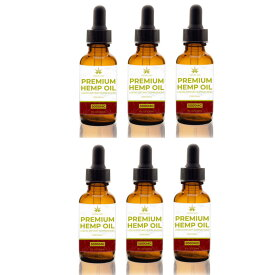 【送料無料・お得な6個セット】高含有量 高品質 オーガニック ビーガン ヘンプオイル 原産地 アメリカ 5000mg /30ml Vegan organic hemp oil 6個セット