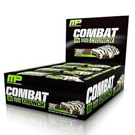 マッスルファーム コンバットクランチプロテインバー チョコレートココナッツ味 12本セット 20gプロテイン MusclePharm Combat Crunch Protein Bar, Multi-Layered Baked Bar, 20g Protein Chocolate Coconut, 12 Bars