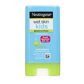 ニュートロジーナ サンスクリーン SPF70 小さな子にも塗りやすいスティックタイプ13g 100%ナチュラル処方 目にしみない日焼け止め 濡れた肌にもOK! Neutrogena Wet Skin Kids Beach & Pool Sunscreen Stick Broad Spectrum SPF 70, .47 oz
