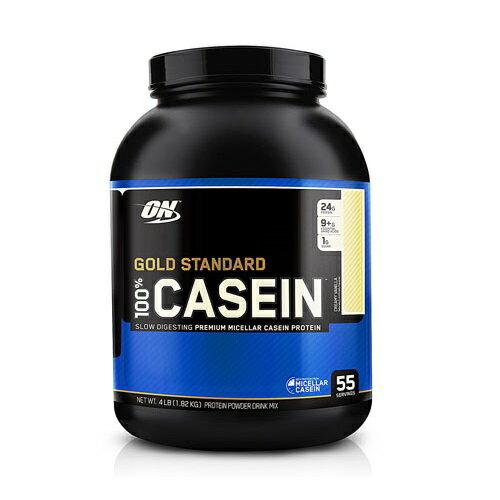 オプティマム ゴールドスタンダート カゼインプロテイン クリーミーバニラ 1.82kg Optimum Nutrition Gold Standard 100% Casein Creamy Vanilla 4lb