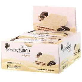 パワークランチ プロテインバー クッキーアンドクリーム 12本セット(Power Crunch Cookies and Creme )