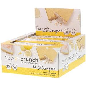 パワークランチ プロテインバー レモンメレンゲ 12本セット(Power Crunch Lemon Meringue )