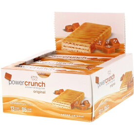 パワークランチ プロテインバー ソルテッドキャラメル 12本セット(Power Crunch Salted Caramel )