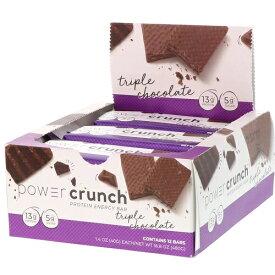 パワークランチ プロテインバー トリプルチョコレート 12本セット(Power Crunch Triple Chocolate )