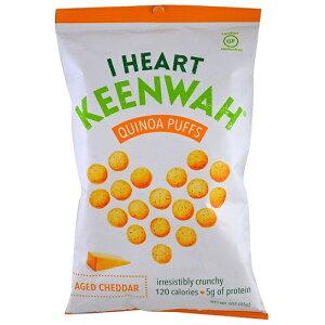 I Heart Keenwah アイハートキヌア キヌアパフ スナック 熟成チェダーチーズ味 3 oz (85 g)