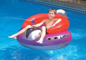 水鉄砲付き 浮き輪 スイムライン Swimline 円盤型 UFO ボート シューティングガン ボート浮き輪 プール 海 パーテ アメリカーナがお届け!