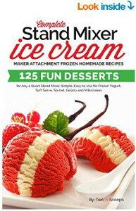 ツースクープス アイスクリームレシピ本 Two Scoops スタンドミキサー用 冷凍 シャーベット アメリカーナがお届け!