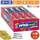 ナーズロープキャンディ 24個  Nerds Rope Rainbow Candy ロープグミ NerdsRopeキャンディロープキャンディまとめ…
