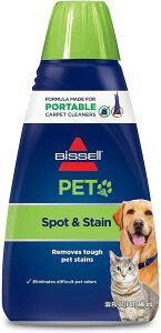 Bissell PET Spot & Stain Carpet Cleaning Formula 32oz 74R7 / ビッセル ポータブルカーペットクリーナー専用 洗剤 ペット スポット&ステイン フォーミュラ 946ml