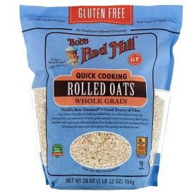 Bob's Red Mill Quick Cooking Rolled Oats, Whole Grain 28oz / ボブズレッドミル クイッククッキング ロールドオーツ 全粒 オートミール オーツ麦 794g