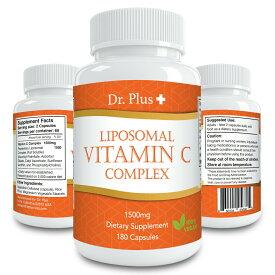 【大好評につき1ヶ月分無料増量中!120→180カプセル[3ヶ月分]】高濃度 ビタミンC リポソーム コンプレックス1500mg /Liposomal Vitamin C 1500mg 180 Caps 3month supply Dr.Plus + ドクター プラス サプリメント Made in USA DrPlus サプリ