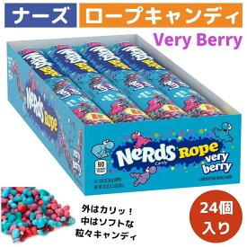 ナーズロープキャンディ 24個 Nerds Rope, Very Berry Candy ベリーベリーキャンディ ロープグミ NerdsRope