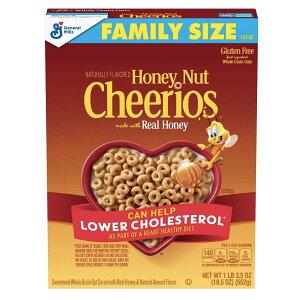 General Mills Cheerios Honey Nut Breakfast Cereal - 19.5oz / ゼネラルミルズ チェリオス 全粒オーツ麦 シリアル [ハニーナッツ] 552g