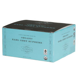 Harney & Sons Organic Earl Grey Supreme Teabags, 50 Count ,3.17oz(90g) / ハーニー&サンズ オーガニック アールグレイ スプリーム ティーバッグ 50袋入り