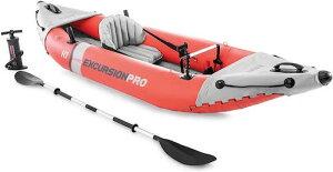 Intex Excursion Pro Kayak Series / インフレータブル カヤック エクスクルージョン プロ 一人用 [オレンジ/グレー]