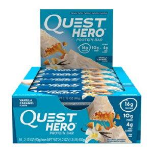 クエストバー プロテインバー バニラキャラメル 12本入り/ Quest Protein Bar vanilla caramel 12ct