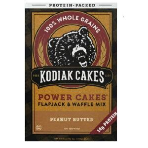 【訳あり】Kodiak Cakes flapjack & waffle mix  1lb2oz kodiak cakesパンケーキミックスピーナッツバター510g【箱潰れ/消費期限2020年4月13日】