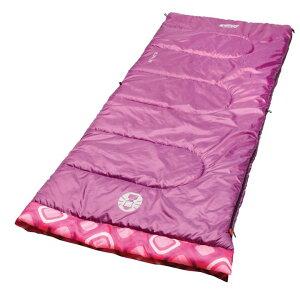 コールマン Coleman レクタングラー 子供用 寝袋 最適温度 7.2 ℃ 165cmまで対応 パープル ピンクパターン 並行輸入品
