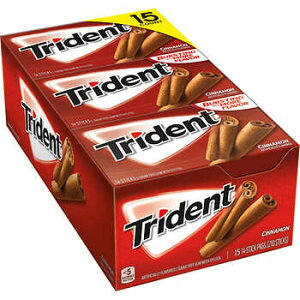 トライデント ガム シナモン味 Trident Sugar Free Gum, Cinnamon 14枚X15箱セット
