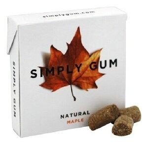 Simply Gum All Natural Maple /シンプリーガム ナチュラル メープル 15個入り×6パック