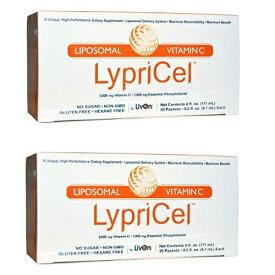 【楽天最安値挑戦中!送料無料】オトクな2箱セット!Lypricel Liposomal Vitamin C, 30 Packets リプリセル ビタミンC 30包 リプライセル